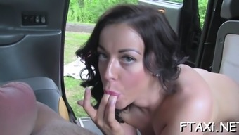 hotties love countefeit taxi due to love-making