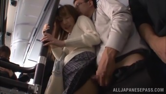 Naughty partners might not go back home for sexual intercourse, they do it right their personal within a public bus