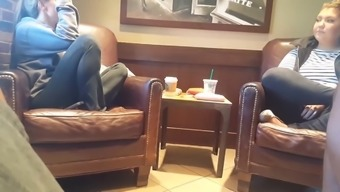 Penis rush 2 babes in Starbucks