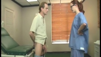 Grimy clinician in intense act