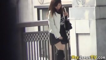 Japanese young adults urinating