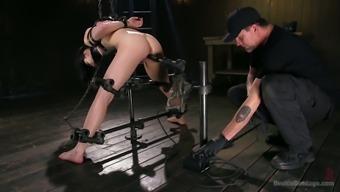Bitch Aria Alexander gets punished in the dark basement
