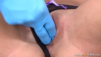 dr. violation smoothly instructing peta jensen regarding how to actually just rub her small pussy