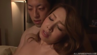 Voracious female Kazama Yumi likes being fucked by a man