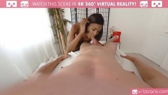 ts vr porn-hot ebony ts fucks and provide delighted ending
