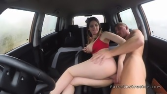 Huge tits young adult bumping technician in auto