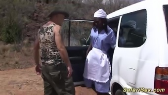 Over the edge love-making along with a sizzling chocolade babe at my wild west african jeep porn trip