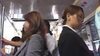Hot asians making the effort to have intercourse within the public train.