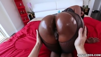 precious stone fitzgibbons gets her large dark colored booty worshipped