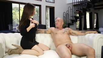 Lacey Channing cannot resist a needled on fellow's astounding human body