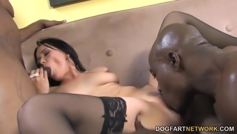 Relief Trend Rectum And Twice Penetration With Dark colored Cock