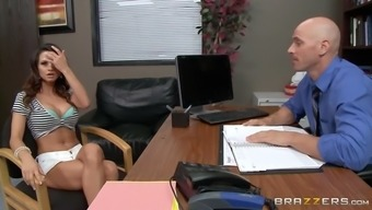 ashley sinclair kaput out her big titties in their own boss' office