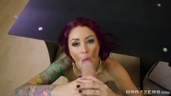 monique alexander fucks danny d's pole pussy to lips