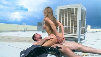 nicole aniston fucking his brains out on the roof-top