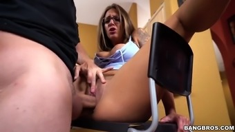 layla london took bald-headed applicant profound in her own clam