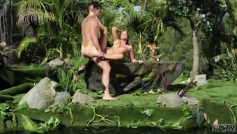 Astounding outdoor adventure sexual intercourse session with stunning damsel Jessica Drake