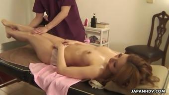 Remarkable exotic massage session undertaken for oiled girlfriend or wife Headdress Kujyo