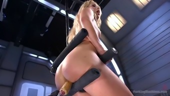goldie events hardcore climaxing by using fucking equipment