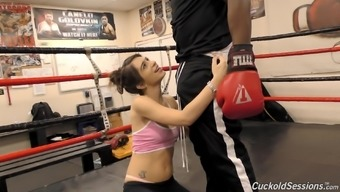 Joseline Kelly cannot fight a unparalleled boxer's huge boner