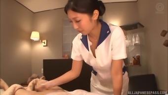 Mizuki Miri is inquisitive about a fellow's vivacious boner