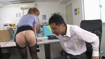 Ripping up her greater pantyhose while fucking the counter