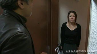 Lively oriental age housewife gets fucked by a naughty and natural environment criminal