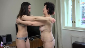 OldNanny Plump mature and pretty youngster is playing by using strapon