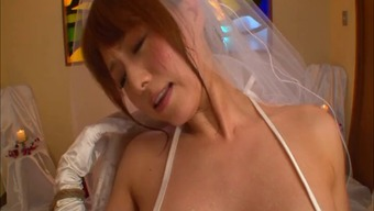 Japanese people soon to be bride in panties cherished with the use of big dongs serious