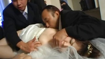 Oriental bride to be gets extreme association fucking part1