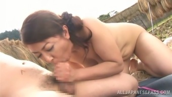 Ayano Murasaki the grow older Japanese people gets fucked open air
