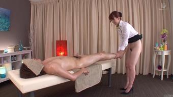 Subtitled old-fashioned Japanese people bottomless massage session Yui Hatano