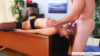 Contaminated Italian-language blackhead Valentina Nappi serves her kinky chief by using stifling serious your throat practical