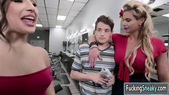 Glendale arizona and Abella fuck bloke in threesome