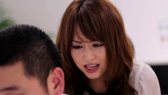 Japanese people girl supplying substantial cock blowjob before jumping skin cumshot on the job