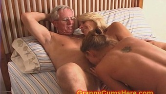 Granny and Grand father fuck Female offspring and Son