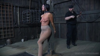 Perverted BDSM workout that involves a fun blonde bimbo