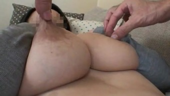 Wife's substantial breast feeding boobs three (3)