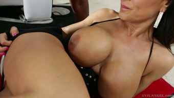 Needed blond mother Lisa Ann as fucked using a black hunk