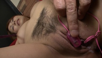 Japanese mom enjoys younger bloke eye-catching her vag
