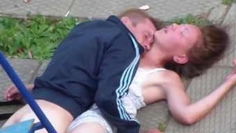 Drunk Partners Making out in government departments Playground
