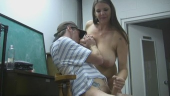 Stud Jerked Off By Move Mum
