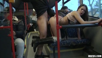 Tough sexual intercourse inside a public train when it comes to the perverted Bonnie