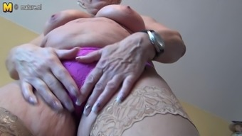 Remarkably old German granny and her deflated tits
