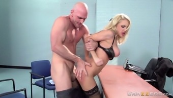 intimate apparel dressed up black office girl gives a radiating tit task after an intimate sexual thumping