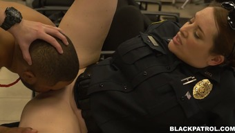 Thirsty for raise police officers fuck peerless stud poker with major D