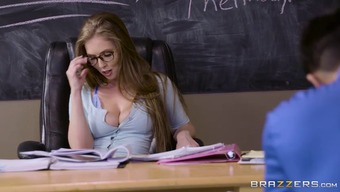Lena Slavik fucks student during test