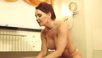 Boobalicious ginger mother Janet Mason gives head her bf off in massage session parlor