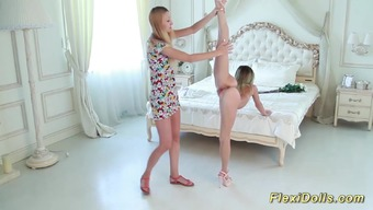 Attractive realistic bendy slender teenager game gets severe extended by her girl friend