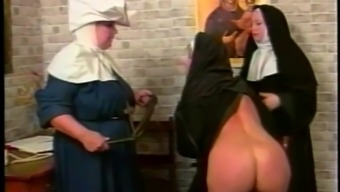 Foul nun gets her butt spanked within a parody sex online video media