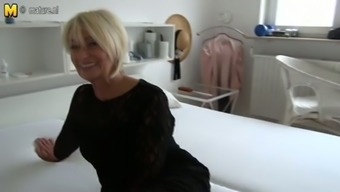 Old amazingly warm German slut adores fidgeting with herself on video camera